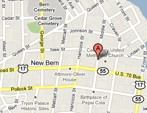 New Bern Map