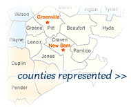 click here to view a list of all counties we represent in North Carolina